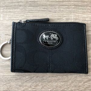 Black Coach Mini Wallet